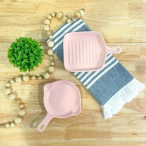 Set of Two (2) Pink Ceramic Serving Dishes